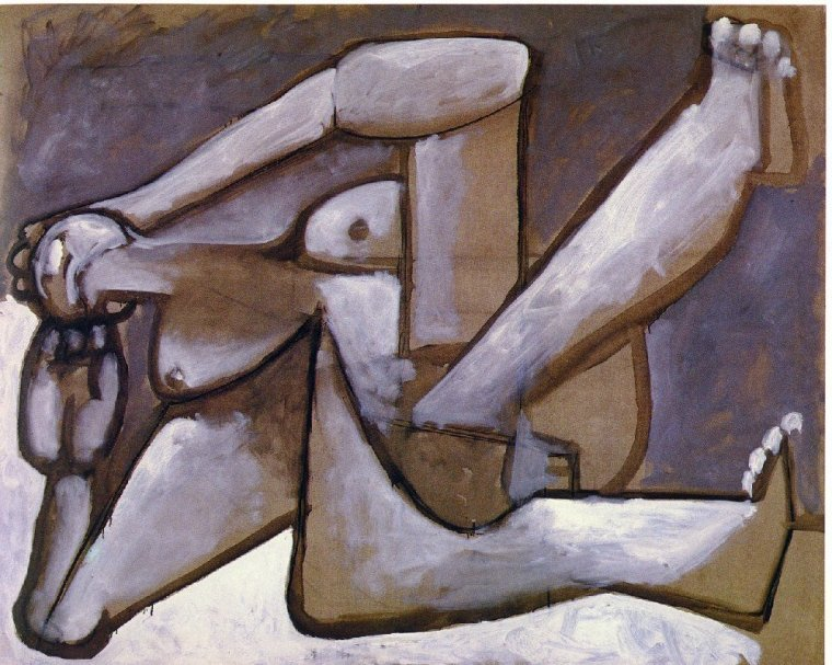Picasso's Reclining Woman-1954