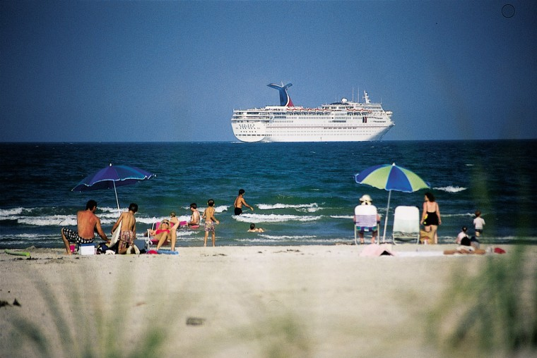 Cruise ship heading south out of the Port. Probably going to the Bahamas.