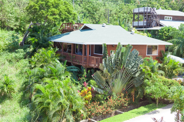 Lovely home in the rain forrest with a view of the ocean